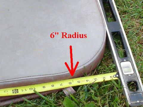 Hot tub covers - Measuring for rounded/radius corners