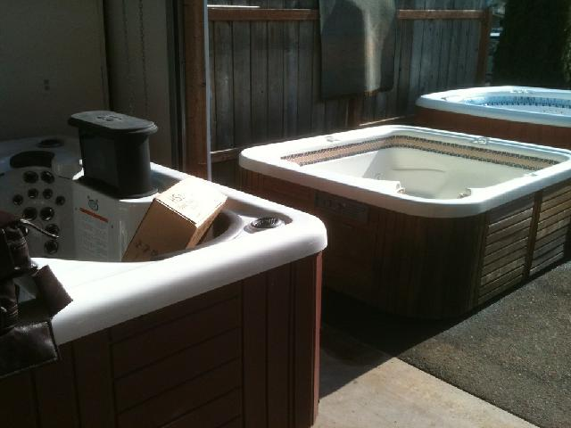 Used hot tubs are available