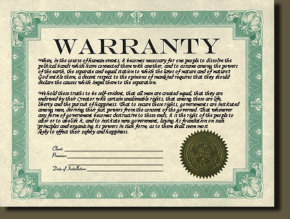 Hot tub warranty