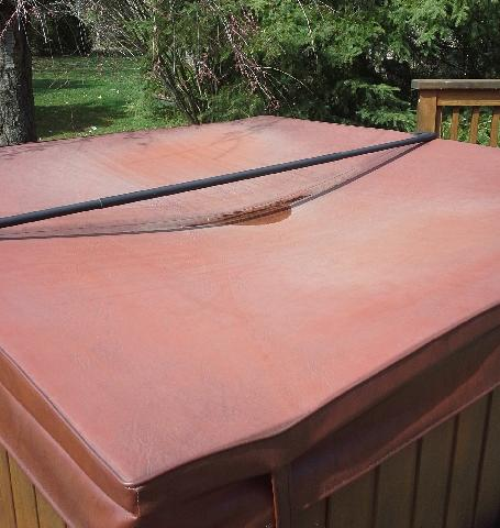 Hot tub cover - Before