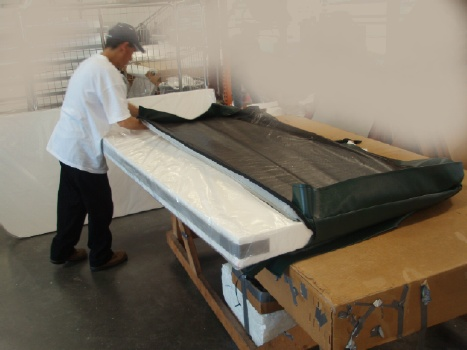 Hot tub covers foam cores can be removed and re-inserted